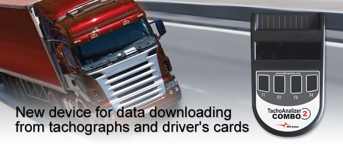 TachoAnalizer COMBO 2 - new device for data downloading from tachographs and driver's cards