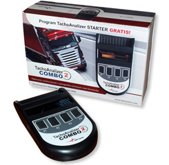 New device for data download from tachographs and driver's cards Tachoanalizer combo 2
